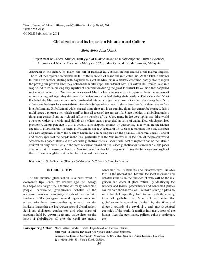 globalization and education research paper