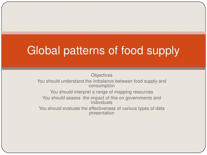 2. global patterns of food supply