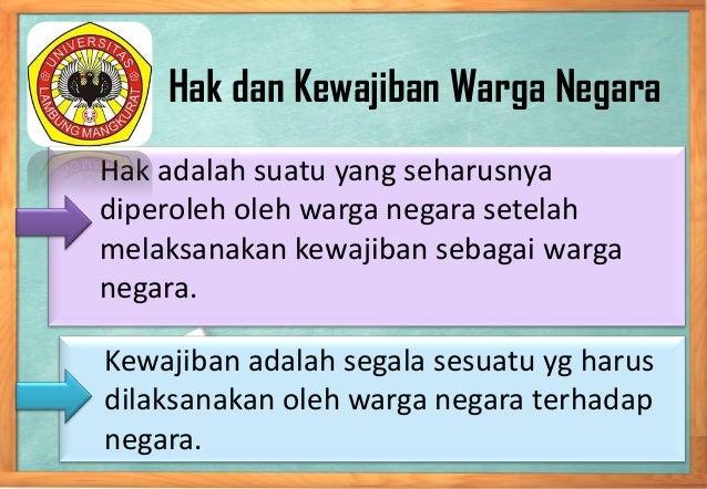 2. hak dan kewajiban warga negara