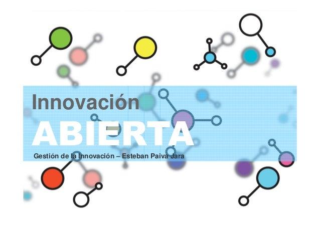Innovación ABIERTAGestión de la Innovación – Esteban Paiva Jara