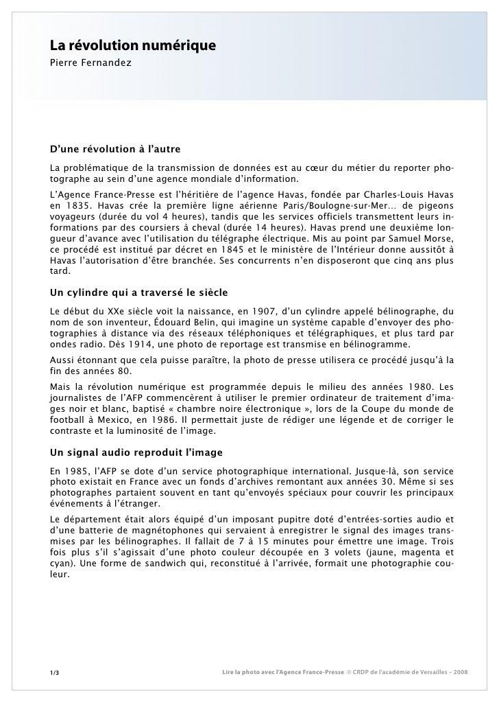 La révolution numériquePierre FernandezD'une révolution à l'autreLa problématique de la transmission de données est au cœu...
