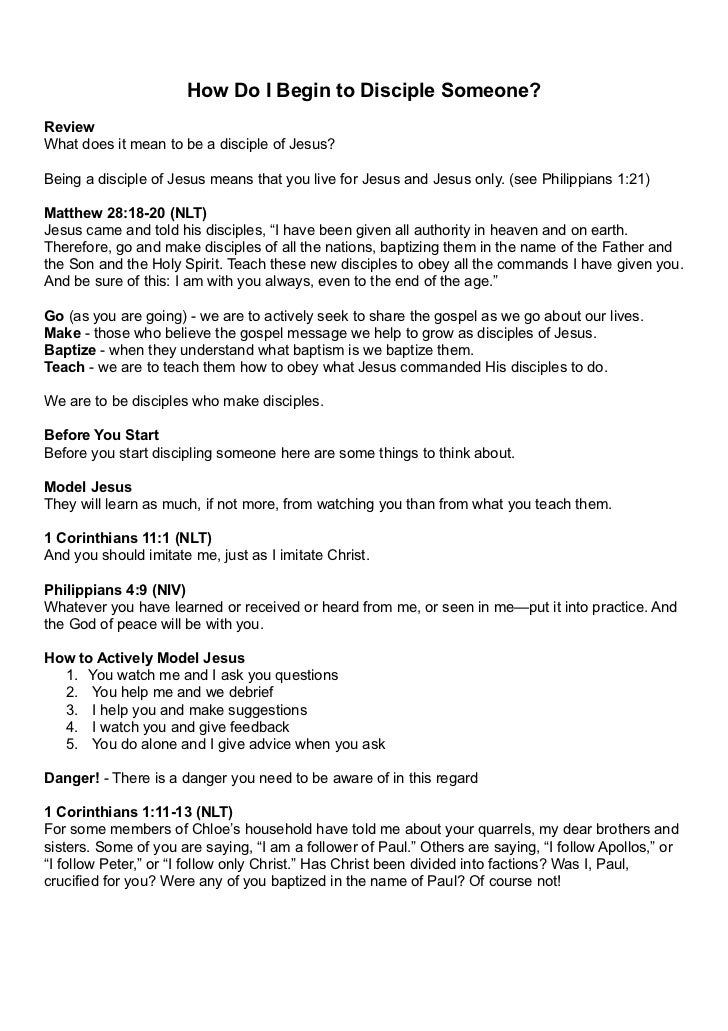 2. How Do i begin to Disciple Someone? Notes A4