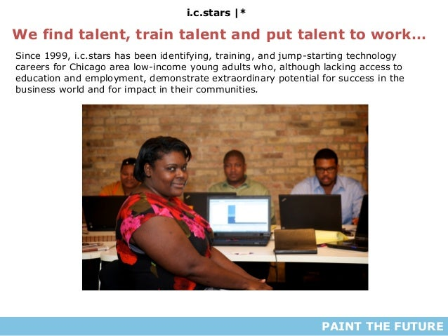 i.c.stars |* PAINT THE FUTURE We find talent, train talent and put talent to work… Since 1999, i.c.stars has been identify...