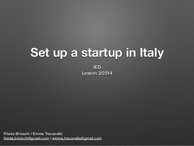Innovative startups (vers. 2014)