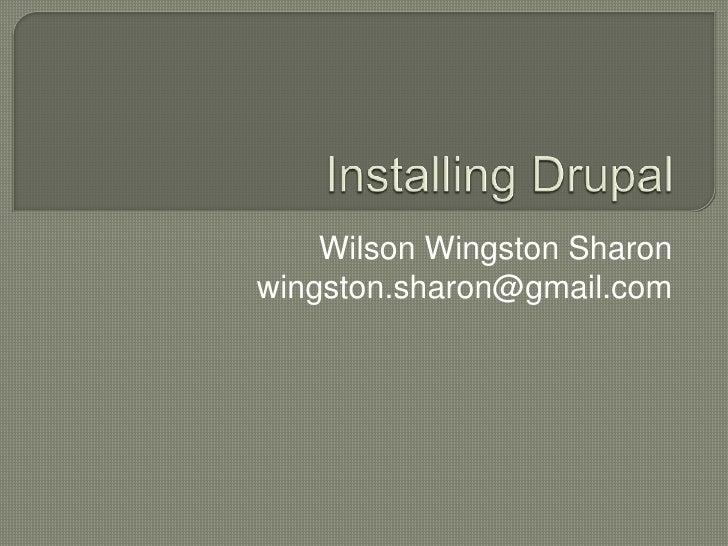 2  Installation of Drupal