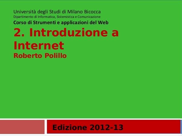 2.Introduzione a Internet