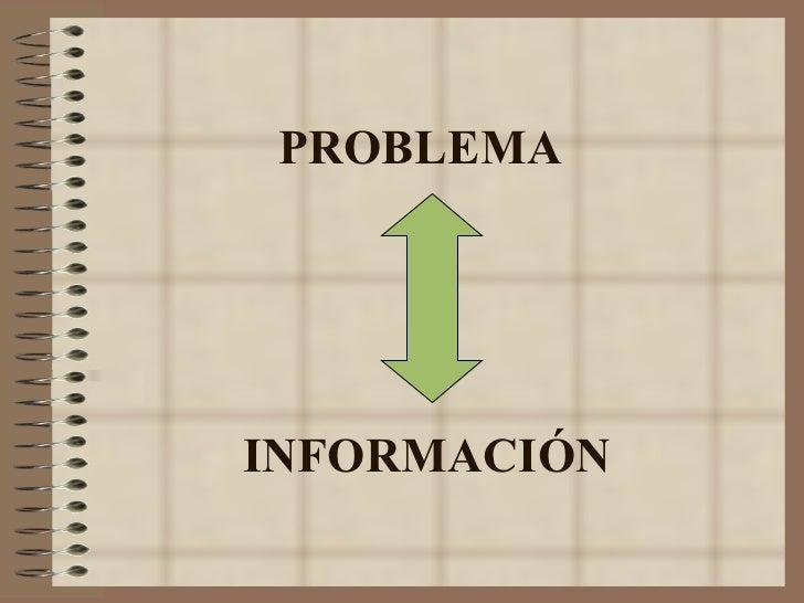 PROBLEMA INFORMACIÓN