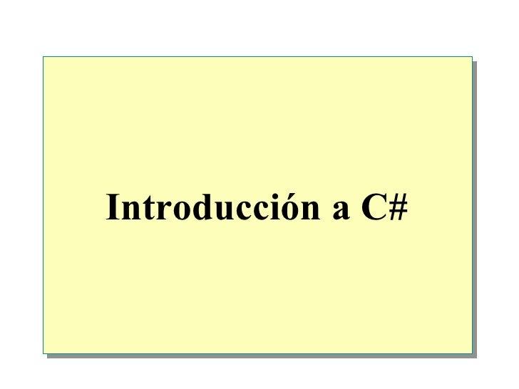 Introducción a C#
