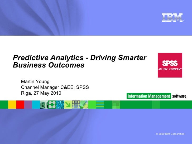Introducing SPSS customer overview