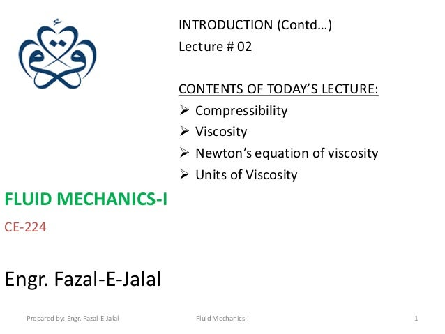 INTRODUCTION (Contd…)                                      Lecture # 02                                      CONTENTS OF T...