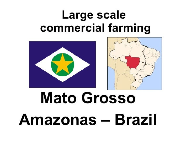 Large scale  commercial farming Mato Grosso  Amazonas – Brazil