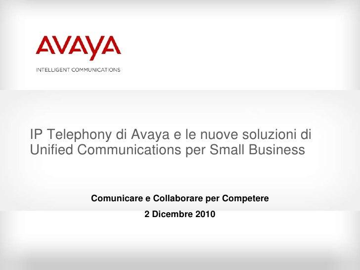 Avaya Unified Collaboration
