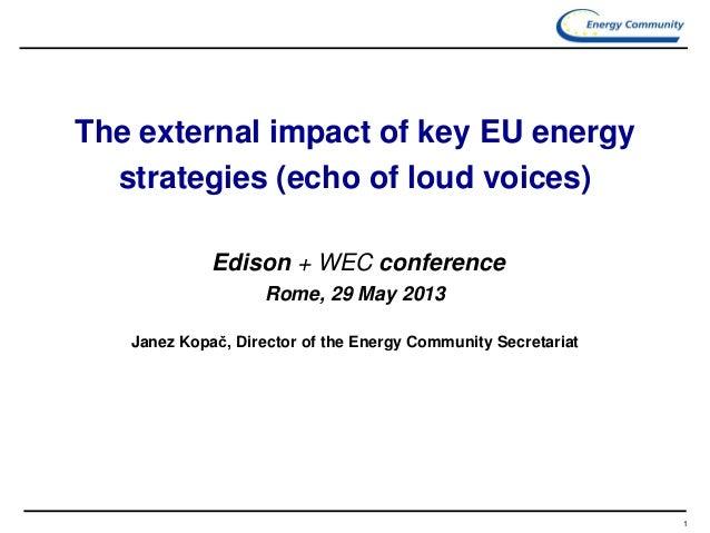 Janez Kopac, Director of the Energy Community Secretariat