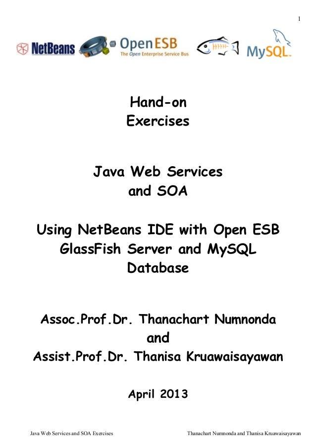 1Java Web Services and SOA Exercises Thanachart Numnonda and Thanisa KruawaisayawanHand-onExercisesJava Web Servicesand SO...