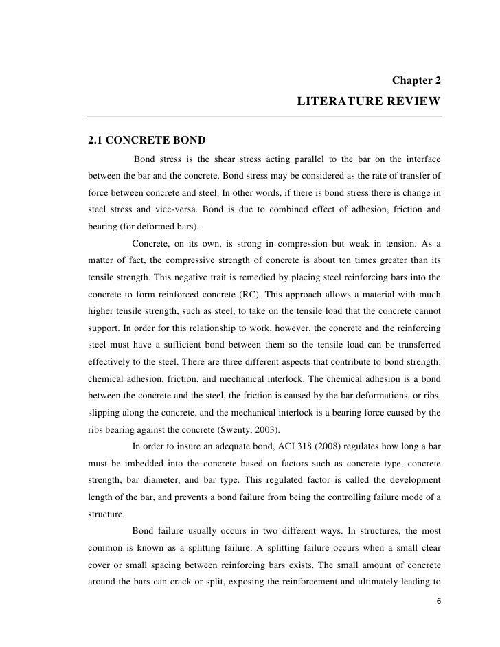 Chapter 2                                                       LITERATURE REVIEW2.1 CONCRETE BOND             Bond stress...