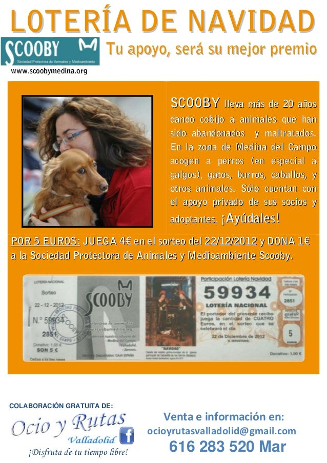 Loteria de navidad Scooby Medina ocio y rutas Valladolid