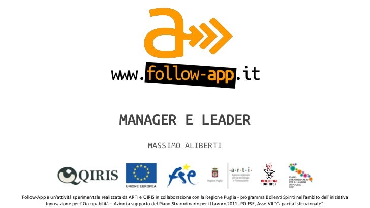 www.follow-app.it                                                         MANAGER E LEADER                                ...