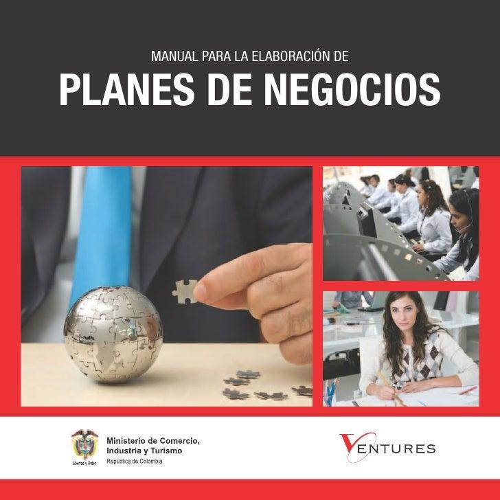 Manual para la elaboración deplanes de negocios