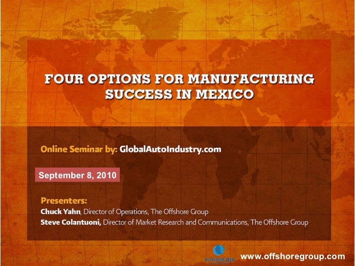 Manufacturing in Mexico Success