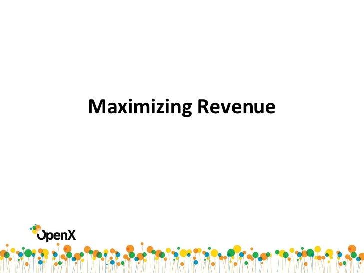 2. Maximizing Revenue