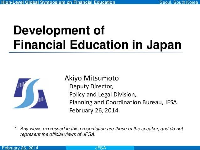 Mitsumoto Akiyo - 2014 Symposium on Financial Education in Korea