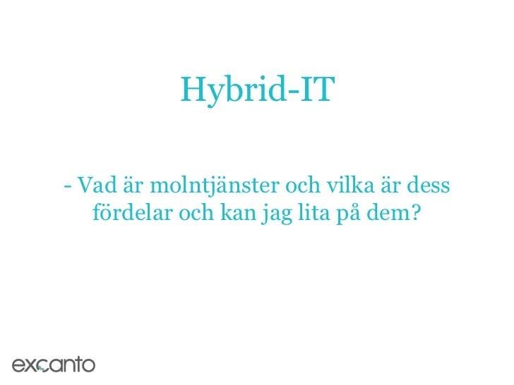 Hybrid-IT 120315 - Molntjänster