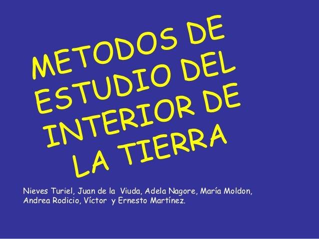 OS DE  M ET OD      EL          IO D  E ST UD      DE        RI OR   IN TE     RA        TI ER     LANieves Turiel, Juan d...