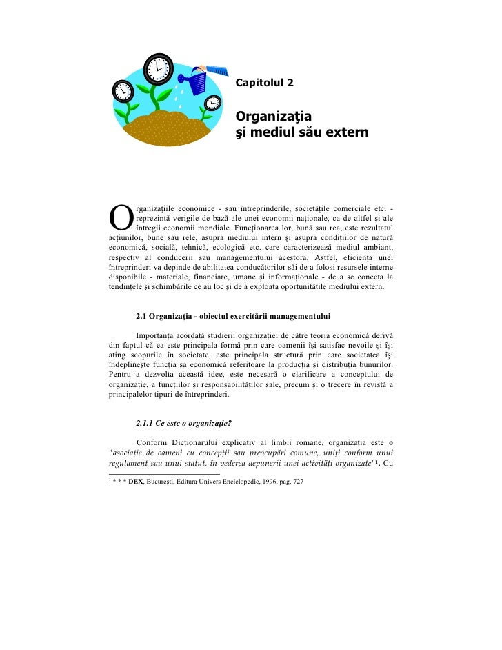 Capitolul 2                                                 Organizaţia                                               şi m...