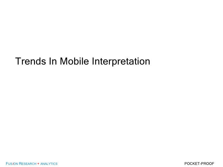 Trends In Mobile Interpretation
