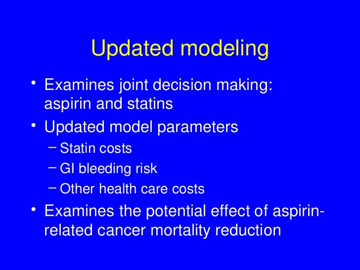 Final Recommendation Statement Aspirin Use to Prevent