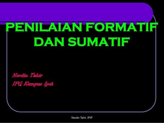 penilaian sumatif dan formatif
