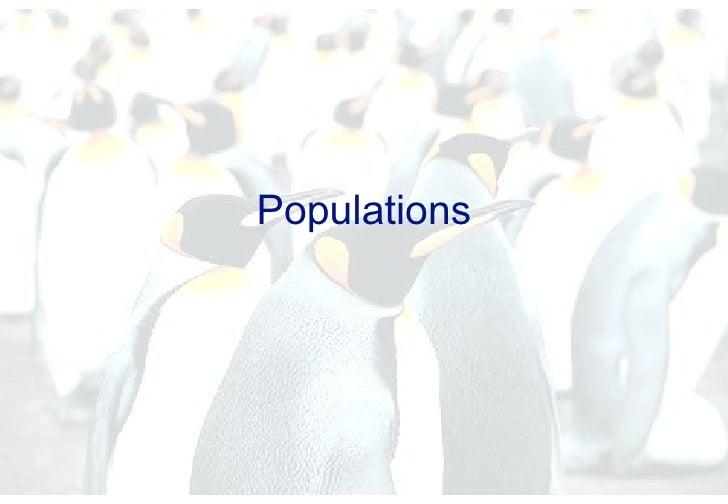 2   Populations