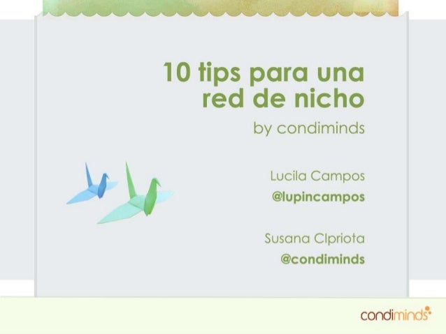10 Tips para una Red de Nicho | Condiminds