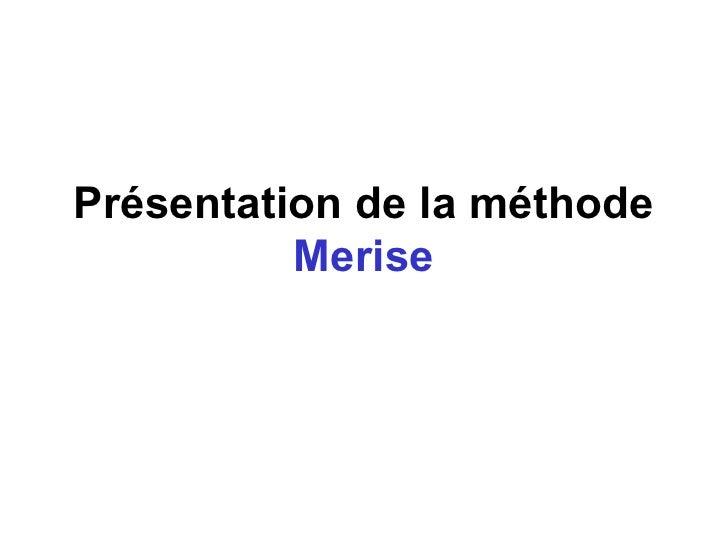 2.presentation merise