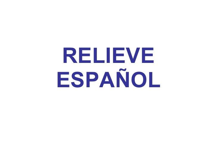 2.  relieve español