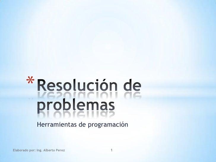 1. resolucion de problemas