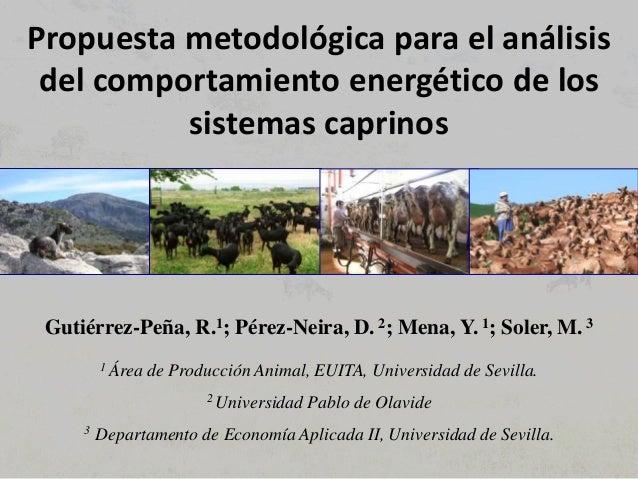 Propuesta metodológica para el análisis del comportamiento energético de los sistemas caprinos Gutiérrez-Peña, R.1; Pérez-...