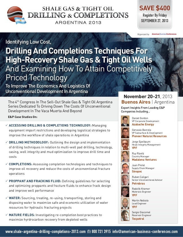 Identifying Low Cost, Drilling And Completions Techniques For High-Recovery Shale Gas & Tight Oil Wells And Examining How ...