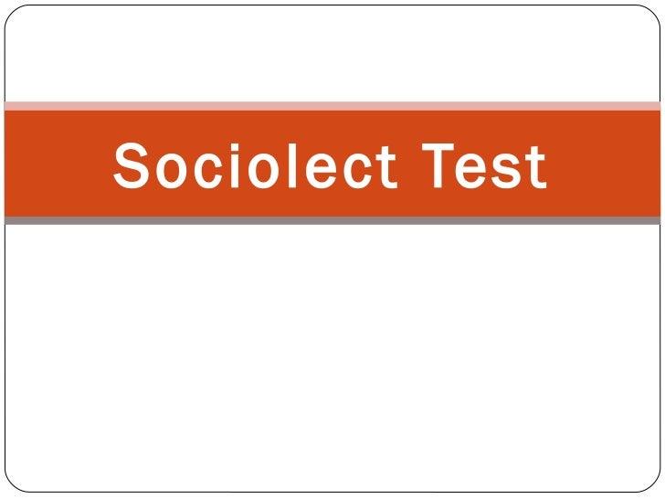 Sociolect Test
