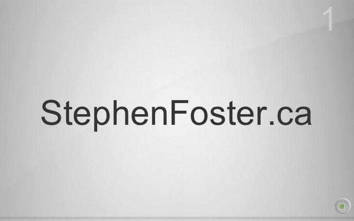 StephenFoster.ca