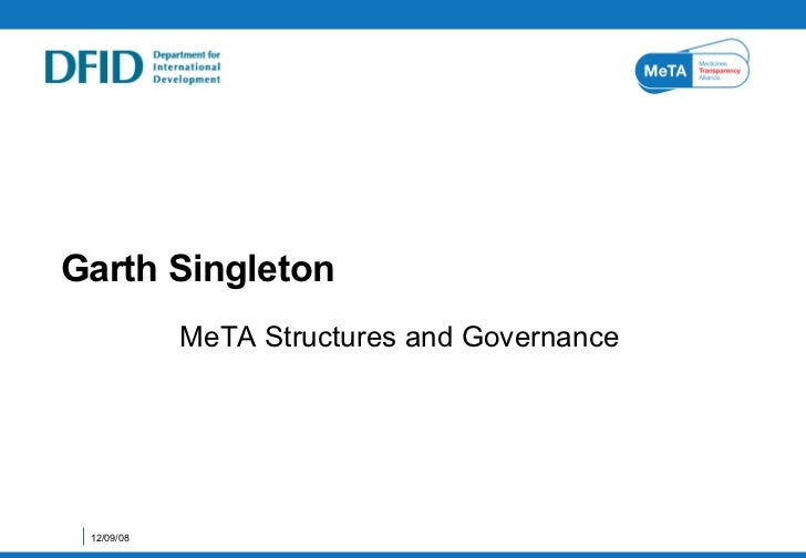 Structure and Governance of the Medicines Transparency Alliance