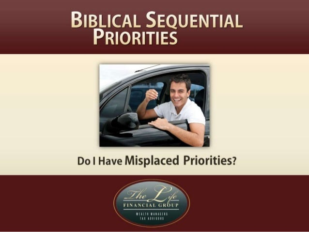 Misplaced or Wrong Priorities