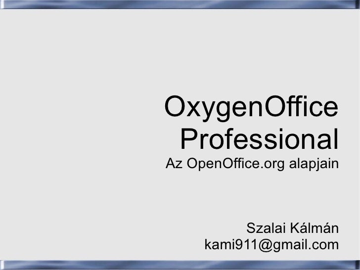 OSF.hu - OxygenOffice Professional