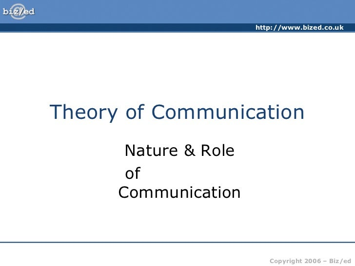 2.theory of communication