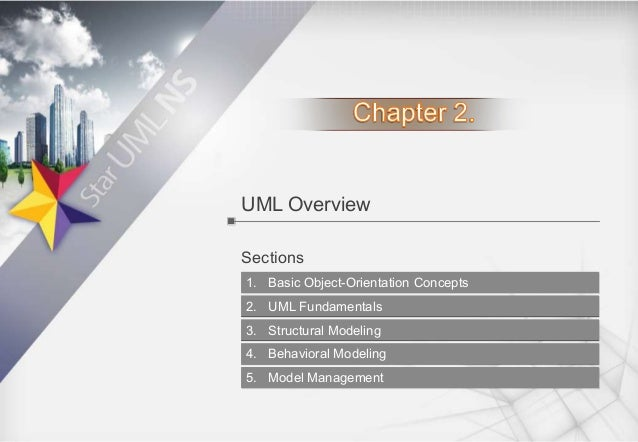 UML Overview Sections 1. Basic Object-Orientation Concepts 2. UML Fundamentals 3. Structural Modeling 4. Behavioral Modeli...