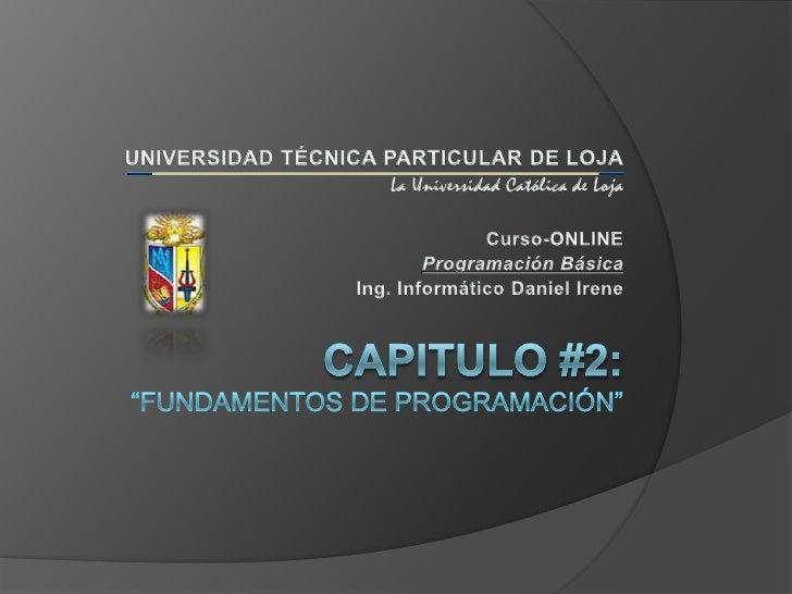 CURSO DE PROGRAMACION BASICA - Cap 2