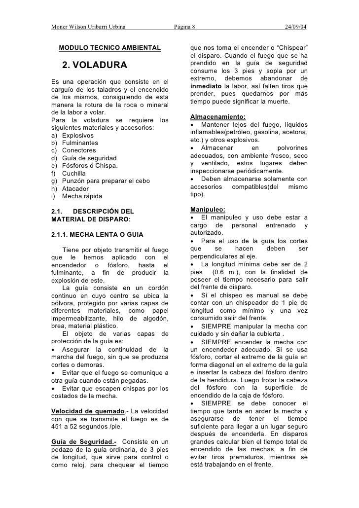 Moner Wilson Uribarri Urbina               Página 8                              24/09/04  MODULO TECNICO AMBIENTAL       ...