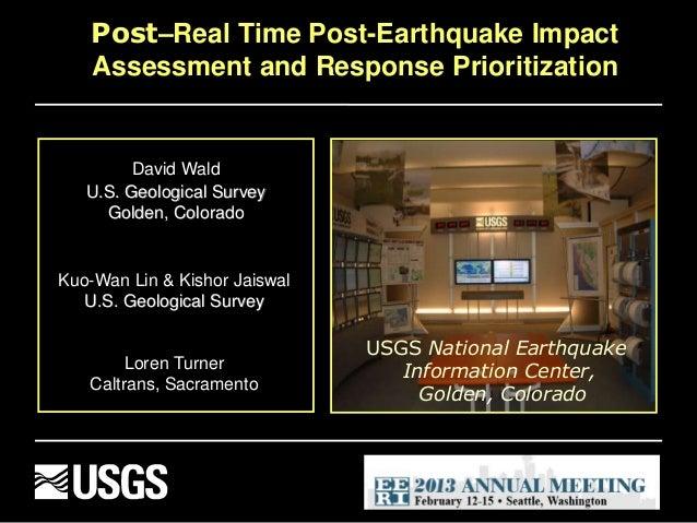 David Wald U.S. Geological Survey Golden, Colorado Kuo-Wan Lin & Kishor Jaiswal U.S. Geological Survey Loren Turner Caltra...