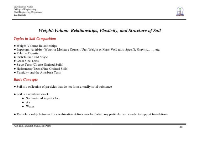 2 weight volume relationships plasticity and structure for Soil volume calculator