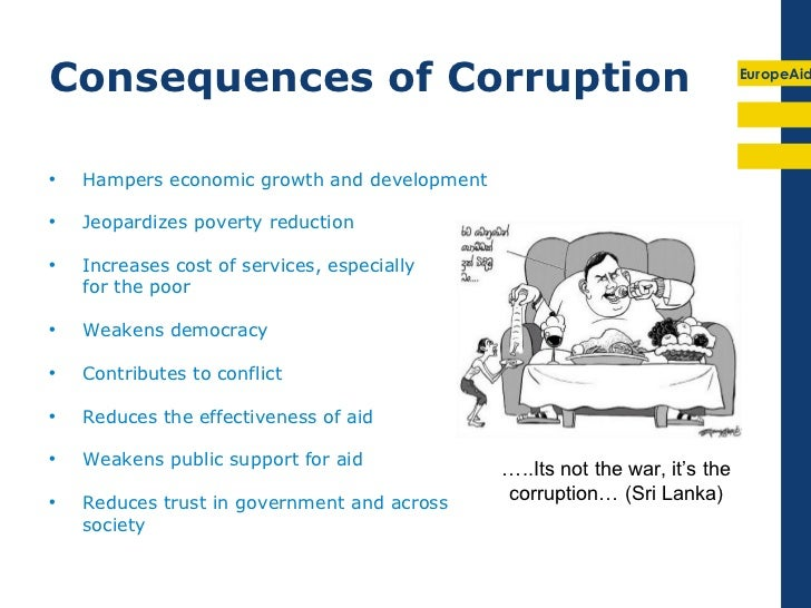 causes consequences and cures of corruption Full-text (pdf) | the paper stresses the need to keep the issue of corruption squarely in view in the development agenda it discusses the causes and consequences of corruption, especially in the context of a least developed country with considerable regulation and central direction.